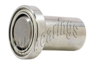 "1/4"" Inch Ball Bearing with integrated Axle:1/4""x3/8""x7/8"":VXB Ball Bearing"