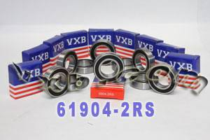 10 Bearings 61904-2RS 20x37x9 Sealed:vxb:Ball Bearing