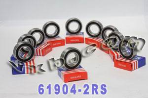 10 Bearings 61904-2RS 20x37x9 Sealed:vxb:Ball Bearings