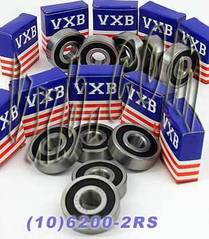 10 Bearing 6200-2RS 10x30x9 Sealed:vxb:Ball Bearing