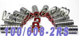 100 608-2RS Skateboard/Inline Skate/Rollerblade/Hockey Bearings:vxb:Ball Bearing