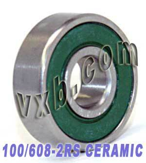 100 inline/Rollerblade Skate Bearing Ceramic:Sealed:vxb:Ball Bearing