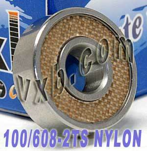 100 Skate Bearing:Nylon: Sealed:vxb:Ball Bearings
