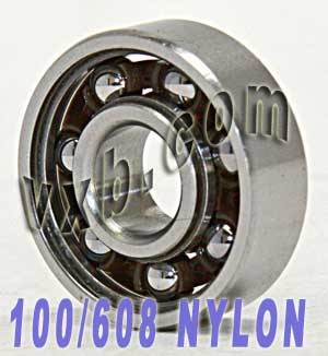 100 Skate Bearing:Nylon Cage:Open:vxb:Ball Bearing
