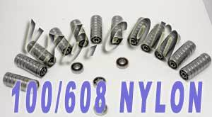 100 Skate Bearing:Nylon Cage:Open:vxb:Ball Bearings