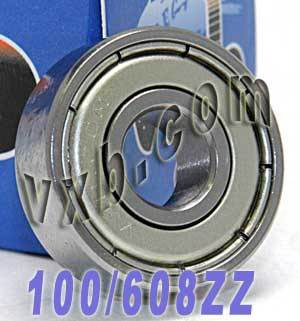 100 Skate Bearing 608ZZ 8x22x7 Shielded:vxb:Bearing