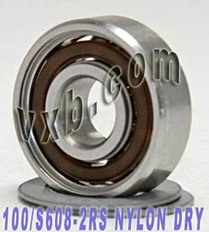 100 lot S608-2RS Skate Bearing 8x22x7 Nylon Cage Stainless:Sealed:vxb:Ball Bearing