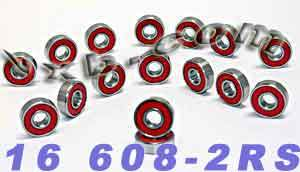 16 Sealed Skate Bearing:vxb:Bearing