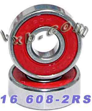 16 Sealed Skate Bearing:vxb:Ball Bearing