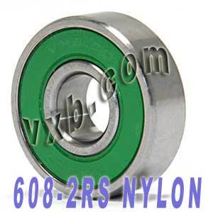 16 inline Skate Bearing Nylon Cage:Sealed:vxb:Ball Bearings