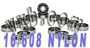 16 inline Skate Bearing:Nylon Cage:Open:vxb:Ball Bearing