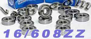 Inline Skate Bearing Set:Sealed:vxb:Ball Bearing