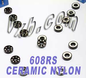 8 Skateboard Bearings:Ceramic:Sealed:vxb:Ball Bearings