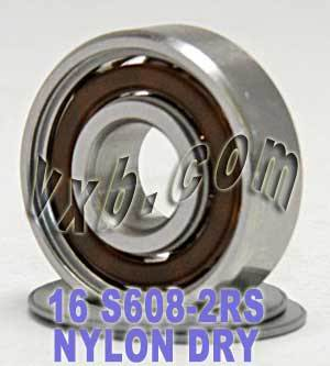 Stainless Steel Inline Skate Bearing Set:Sealed:vxb:Ball Bearing