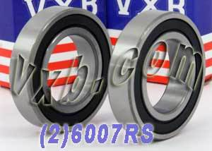 2 Bearing 6007RS 35x62x14 Sealed:vxb:Ball Bearing
