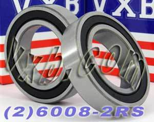 2 Bearing 6008-2RS 40x68x15 Sealed:vxb:Ball Bearing