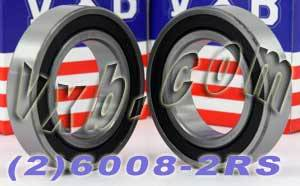 2 Bearing 6008-2RS 40x68x15 Sealed:vxb:Ball Bearings