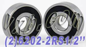 "2 Bearings 6202-8 2RS 5/8""x35x11 Sealed:vxb:Ball Bearings"