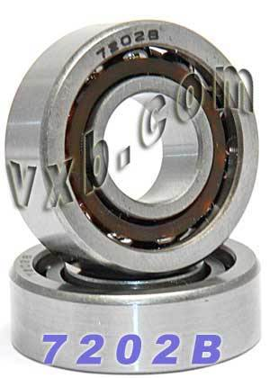 2 Bearings 7202B Angular Contact 15x35x11:vxb:Ball Bearing