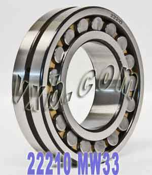 22220MW33 Bearing 100x180x46:Steel:Unsealed:Abec 1:vxb Bearing