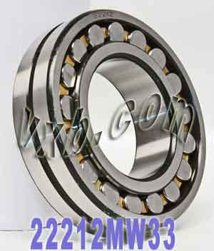 22212MW33 Bearing 60x110x28:Steel:Unsealed:Abec 1:vxb Bearing
