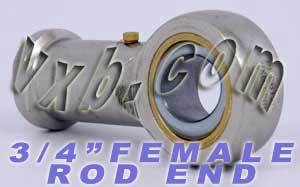 "Female Rod End 3/4"" inch PHSB12L:vxb:Ball Bearing"