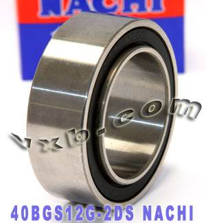 40BGS12G-2DS NACHI Double-row Auto Air Conditioning Angular Contact Ball Bearing 40x62x20.6/24:Japan:Ball Bearing