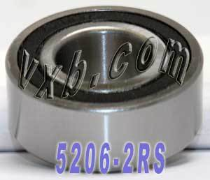 5206-2RS Bearing 30x62x23.8 Angular Contact:vxb:Ball Bearings