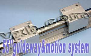 20mm Linear Guideway System 55inch Long Rail with 2 Built-in Trucks