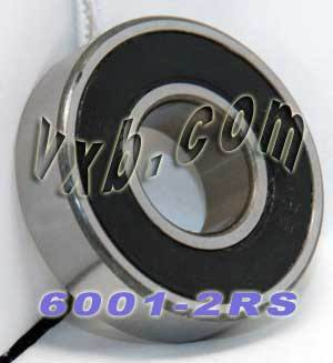 6001-2RS Bearing 12x28x8 Sealed:vxb:Ball Bearing