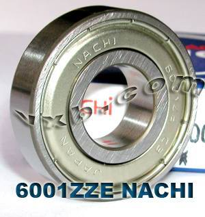 6001ZZE Nachi Bearing 12x28x8:Shielded:C3:Japan
