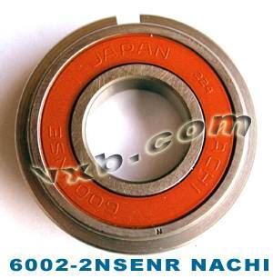 6002-2NSENR Nachi Bearing With Snap Ring 15x32x9:Japan