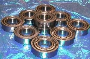 10 Bearing 6002ZZ 15x32x9 Shielded:vxb:Ball Bearings
