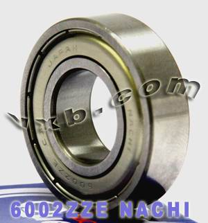 6002ZZE Nachi Bearing 15x32x9:Shielded:C3:Japan