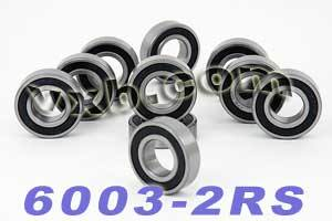 10 Bearing 6003-2RS 17x35x10 Sealed:vxb:Ball Bearing