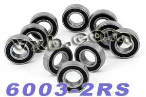10 Bearing 6003-2RS 17x35x10 Sealed:vxb:Ball Bearings