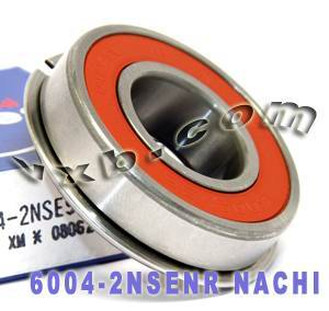 6004-2NSENR Nachi Bearing 20x42x12 Sealed C3 Snap Ring Japan Ball Bearings