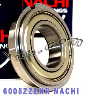 6005ZZENR Nachi Bearing 25x47x12:Shielded:C3:Snap Ring:Japan
