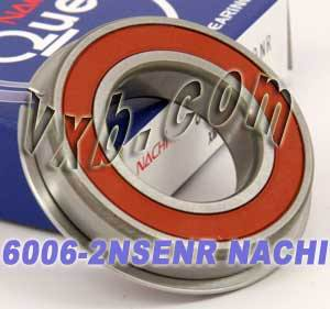 6006-2NSENR Nachi Bearing 30x55x13:Sealed:C3:Snap Ring:Japan