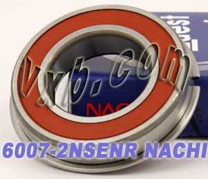 6007-2NSENR Nachi Bearing 35x62x14:Sealed:C3:Snap Ring:Japan