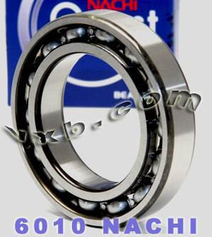 6010 Nachi Bearing 50x80x16:Open:C3:Japan