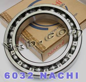 6032 Nachi Bearing 160x240x38:Open:C3:Japan
