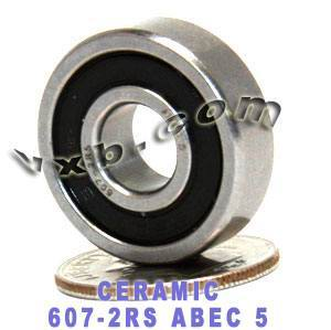 607-2RS Ceramic Bearing Si3N4 7mmx 19mmx 6mm:Chrome:Sealed:ABEC-5:vxb:Ball Bearing
