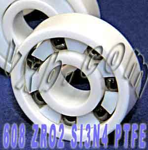 Full Ceramic Skate Bearing 608 8x22x7:vxb:Ball Bearings
