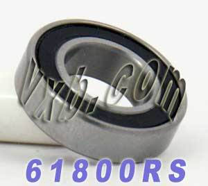 61800RS Bearing 10x19 Sealed 10x19x5:vxb:Ball Bearing