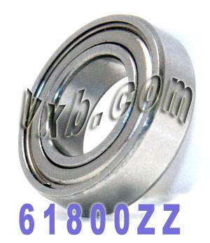 61800ZZ Bearing 10x19x5 Shielded:vxb:Ball Bearing