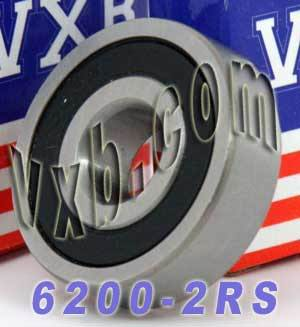 6200RS Bearing 10x30x9 Sealed:vxb:Ball Bearing