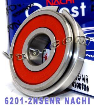 6201-2NSENR Nachi Bearing 12x32x10:Sealed:C3:Snap Ring:Japan