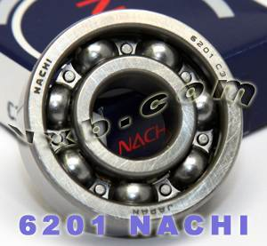 6201 Nachi Bearing 12x32x10:Open:C3:Japan