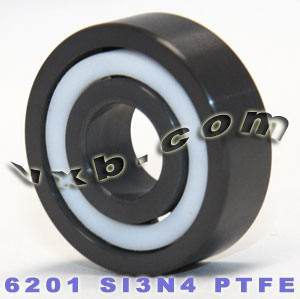6201 Full Ceramic Bearing 12x32x10 Si3N4/PTFE:vxb:Ball Bearing